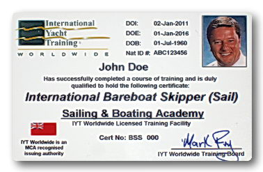 Internatiional Yachtmaster Bareboat Skipper Certification