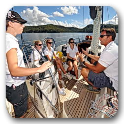 theory sailing lessons pittwater